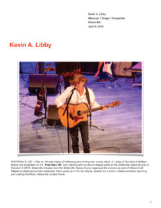 Kevin A Libby / Singer-Songwriter Promo Kit