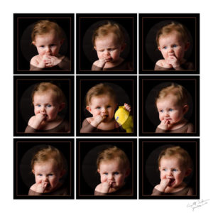Calla at 6 Months - Wall Montage Sample