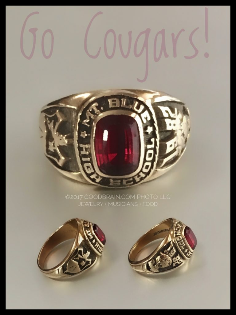 gold high school ring collage