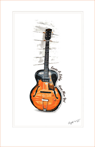 Kevin A Libby Limited Edition Guitar Art Poster for web