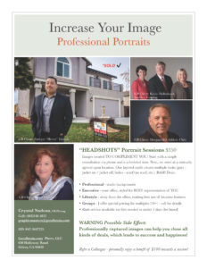 Increase Your Image Professional Portraits Flyer