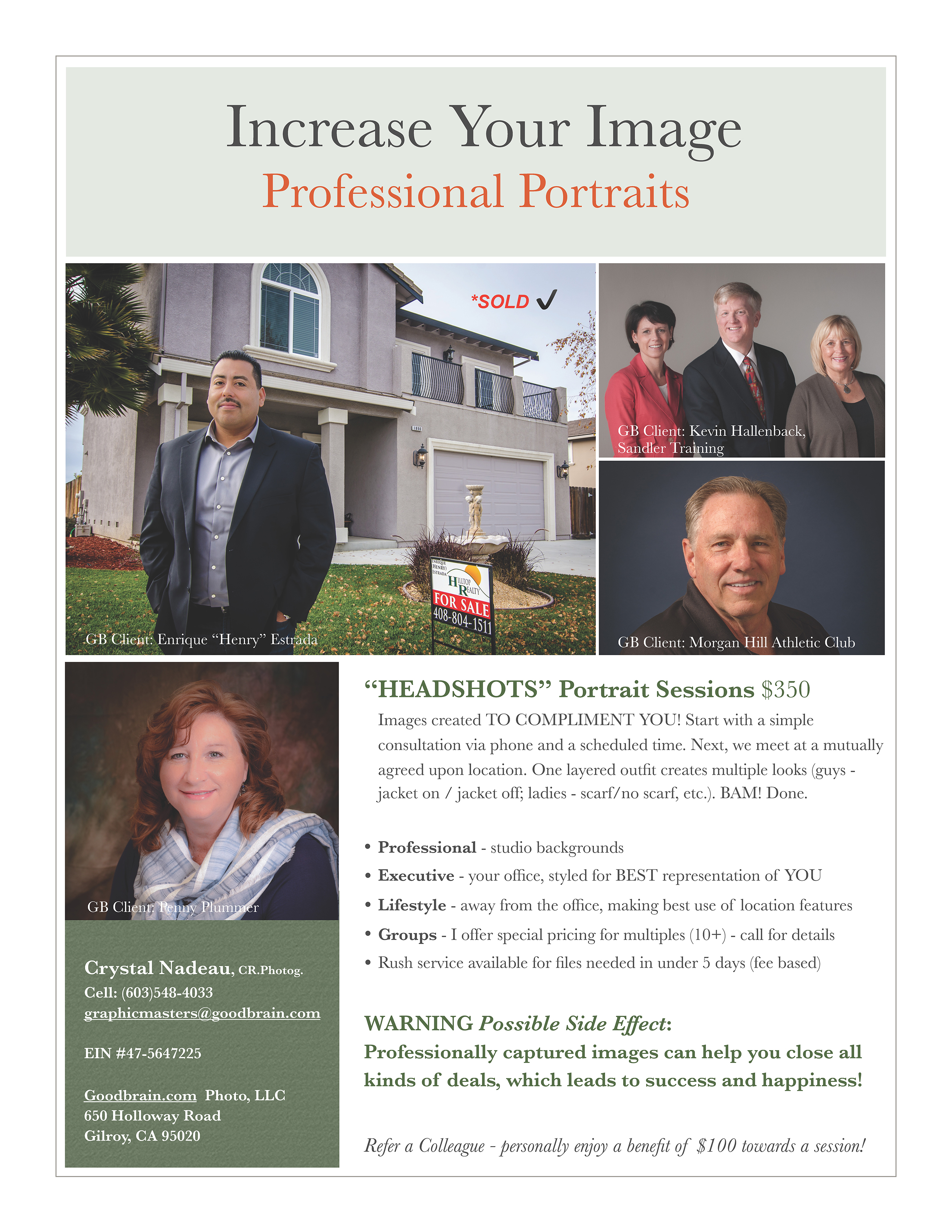Improve Your Image with Professional Portraits!