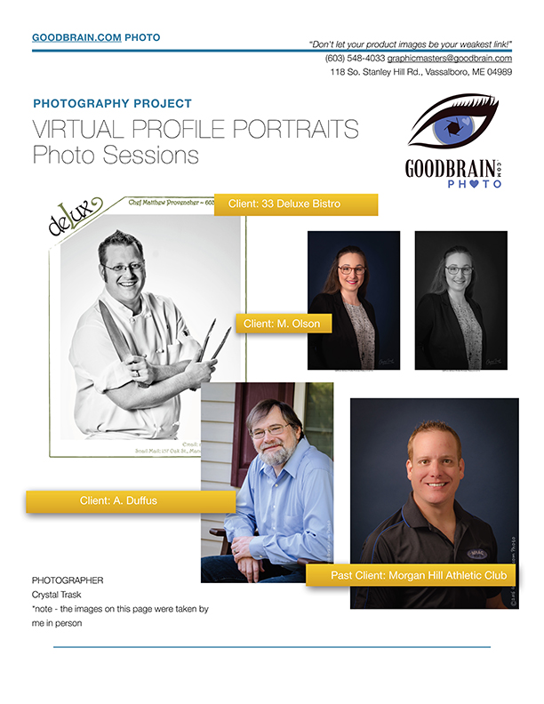 Professional Profile Portraits – taken by YOU!